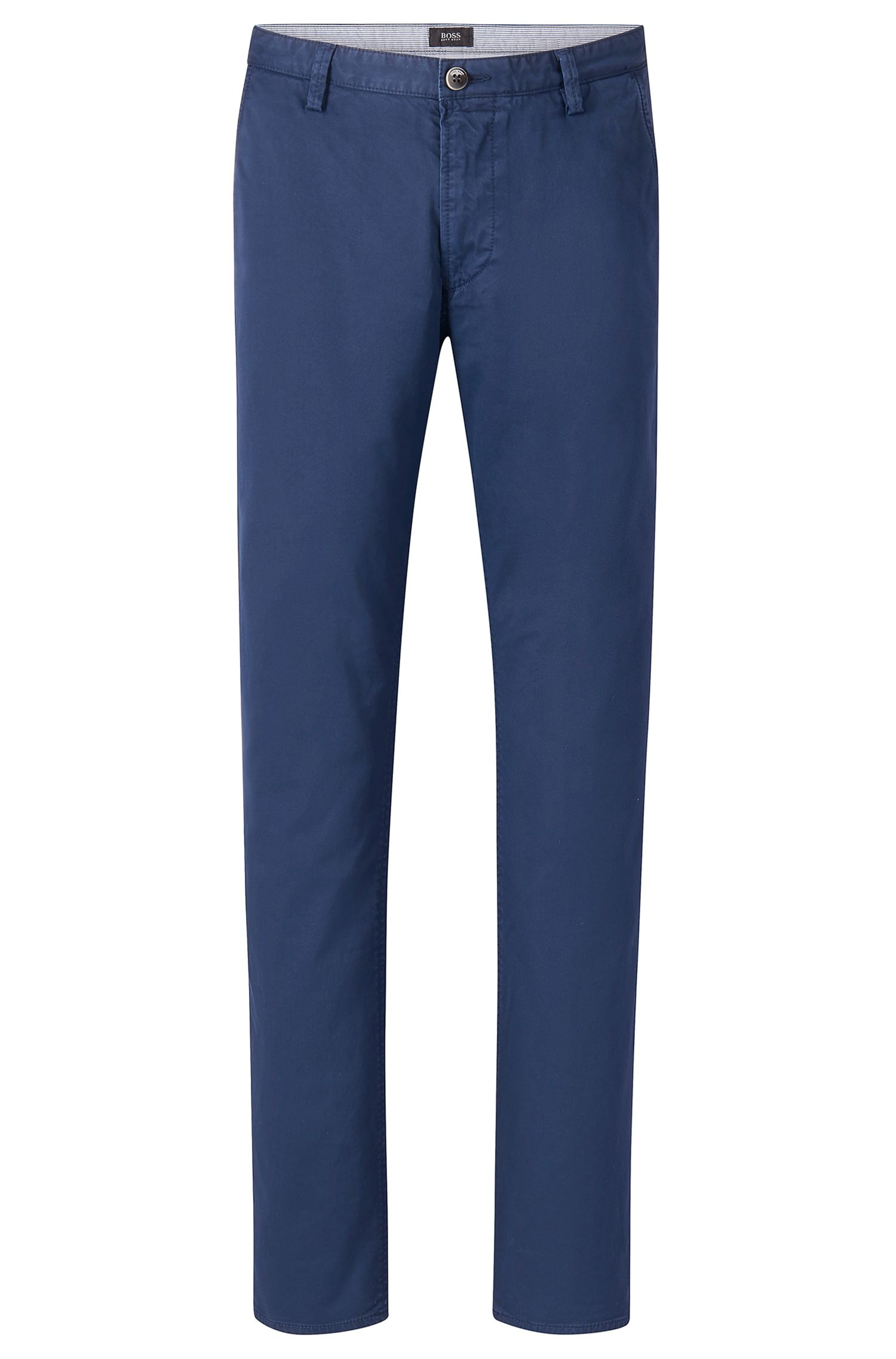 Stretch Cotton Colored Chino Pant, Slim Fit   Rice