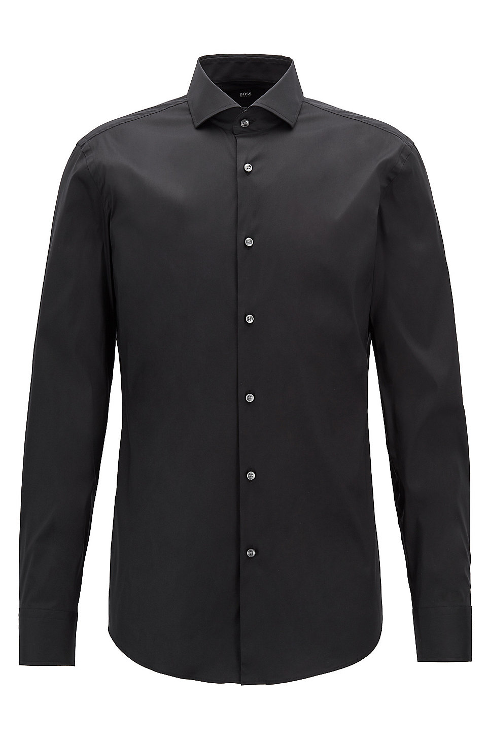 Boss Stretch Cotton Dress Shirt With Stretch Tailoring