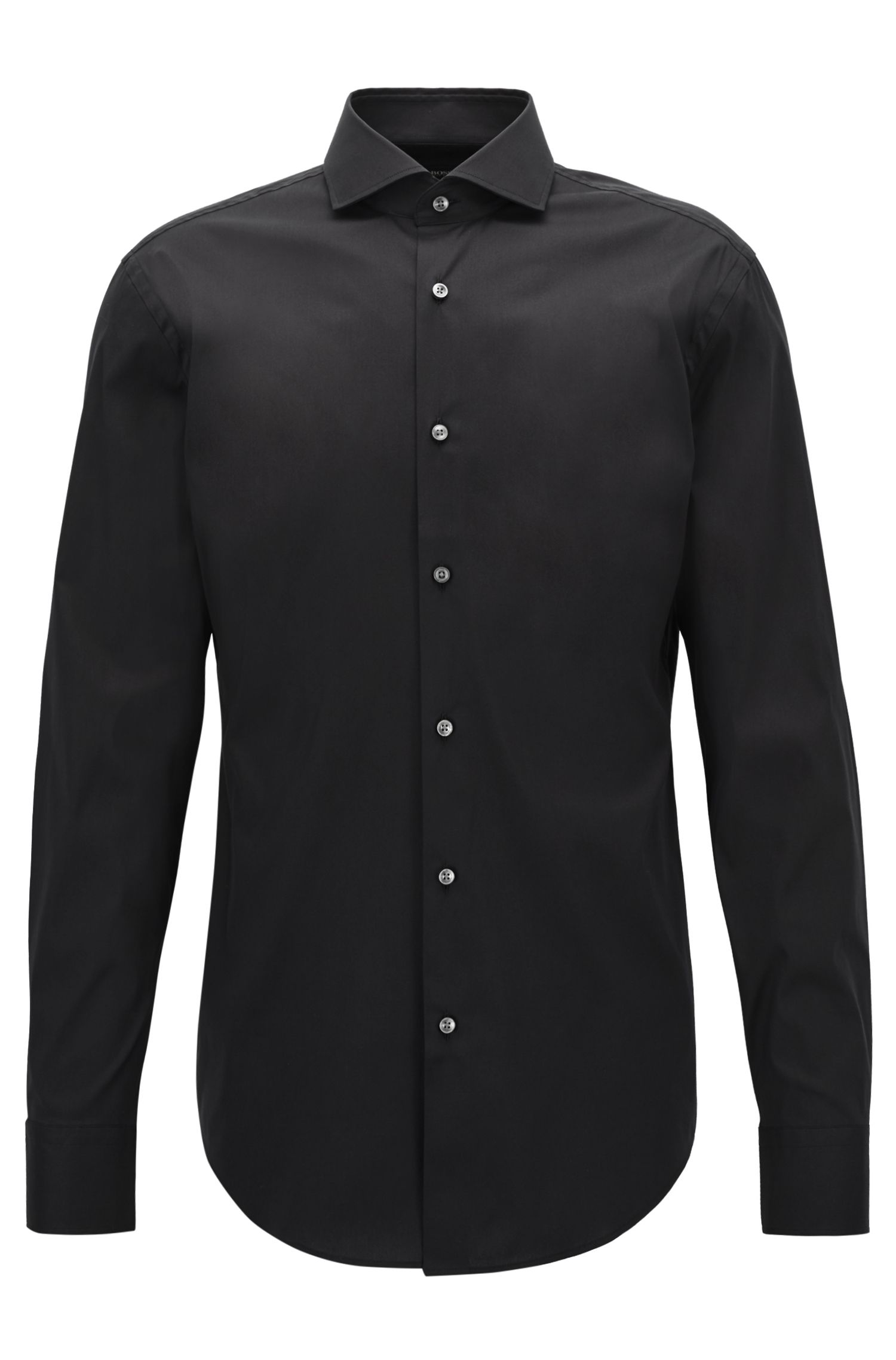 Stretch Cotton Dress Shirt with Stretch Tailoring, Slim Fit   Jason