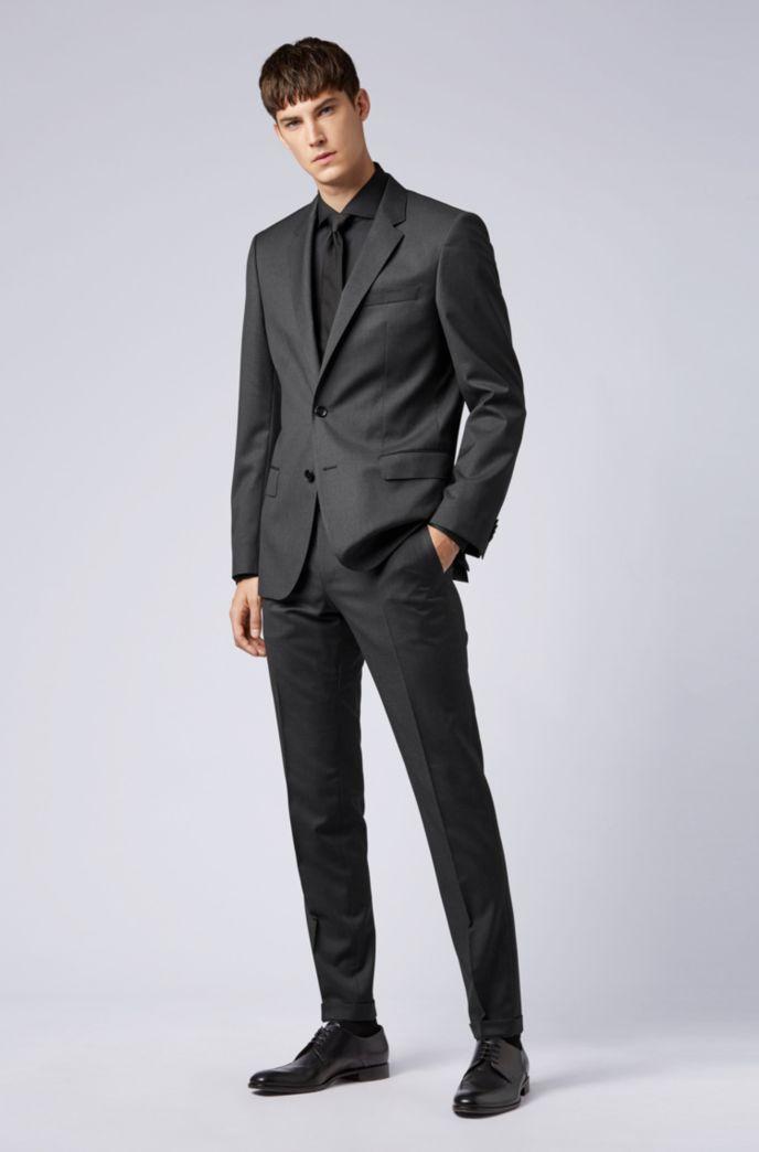 Slim-fit shirt in stretch poplin