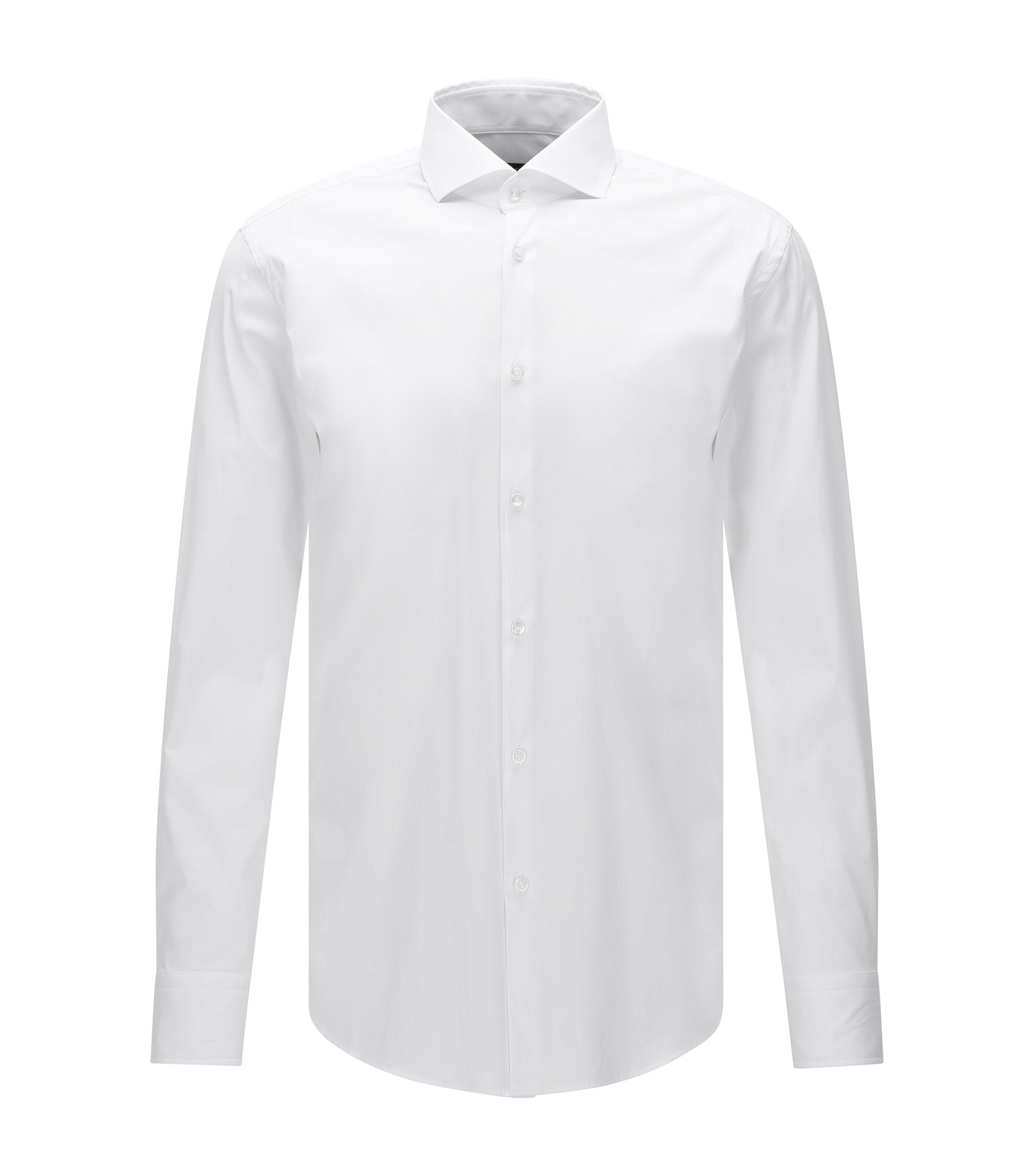Regular-fit shirt in structured checked cotton BOSS