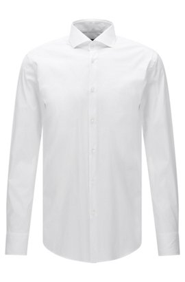 Regular-fit shirt in structured checked cotton BOSS Outlet Discounts Buy Cheap 2018 New ZbgSs