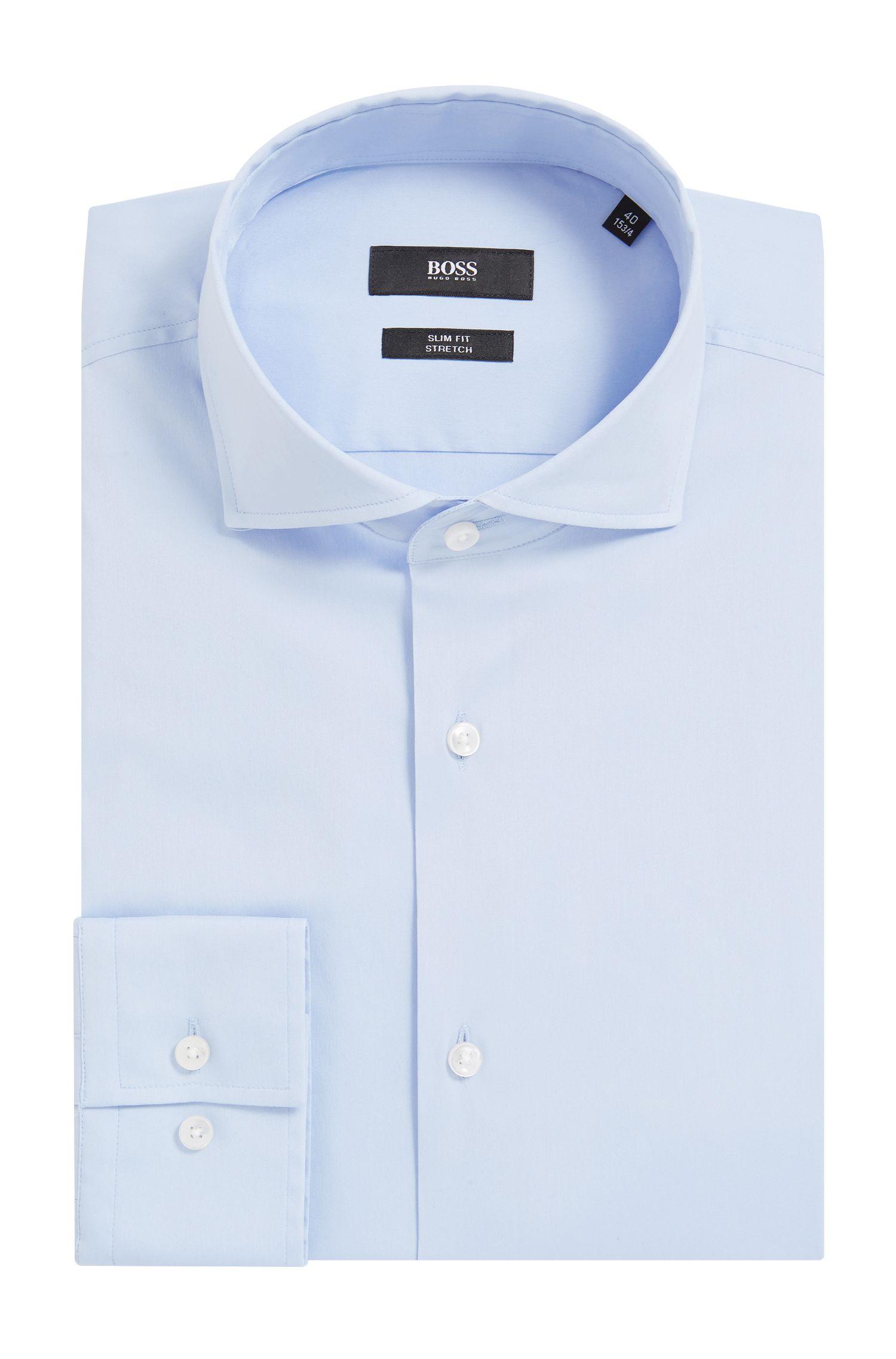 Spread Collar Stretch Cotton Dress Shirt, Slim Fit | Jason
