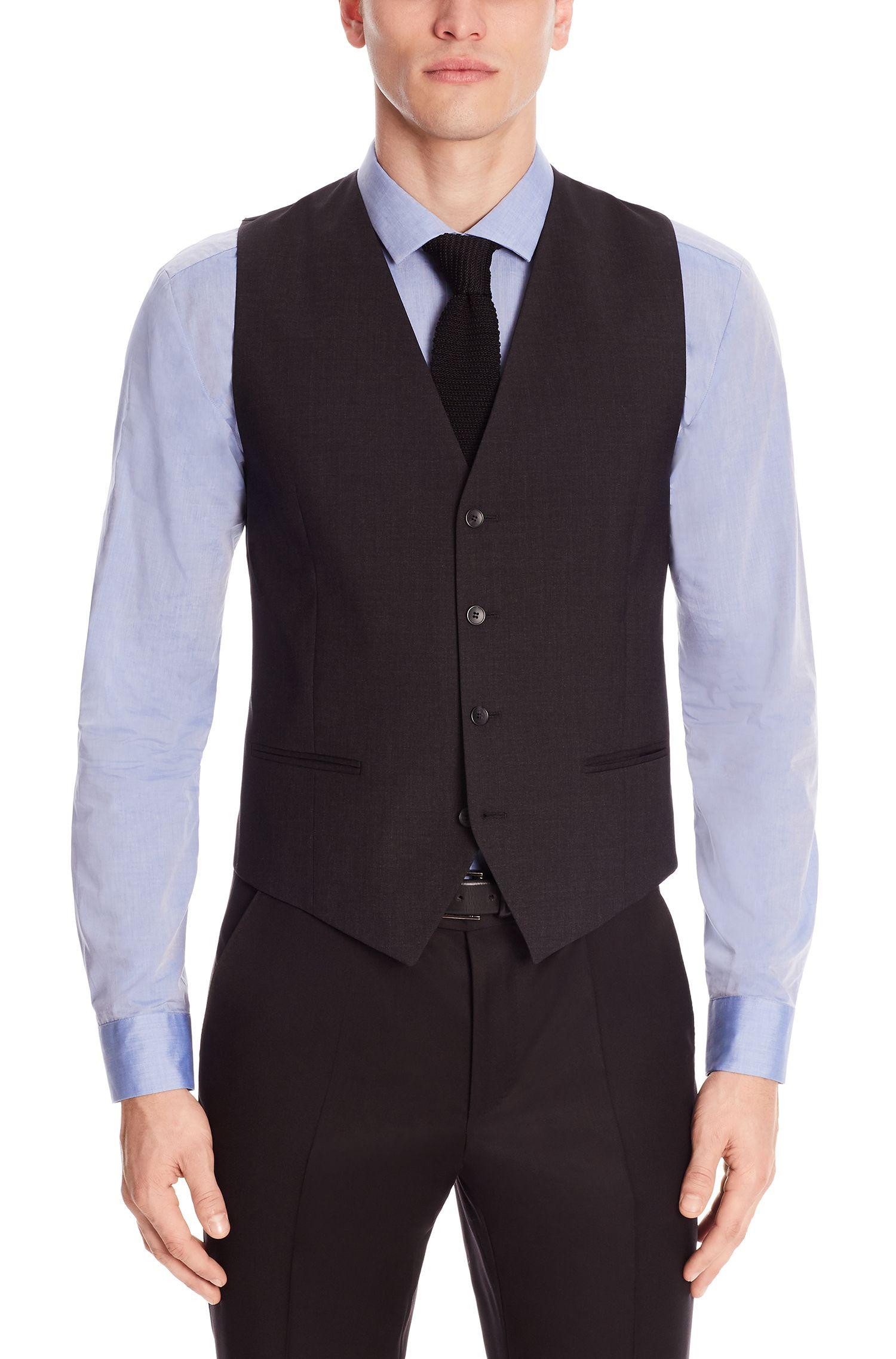 'Wel' | Slim Fit, Stretch Virgin Wool Vest