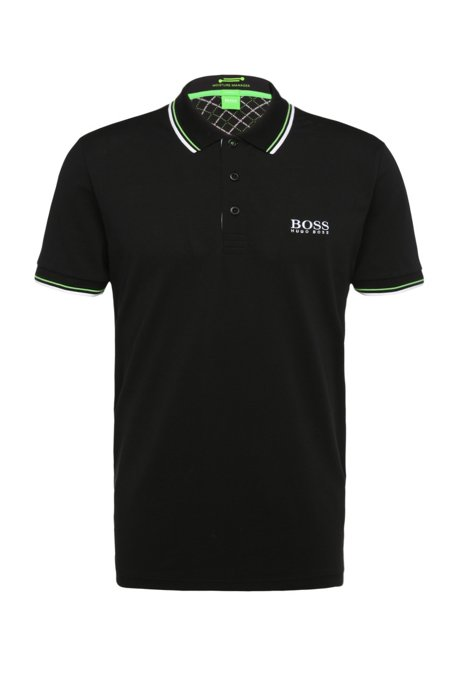 Boss Moisture Manager Stretch Cotton Polo Shirt Modern Fit