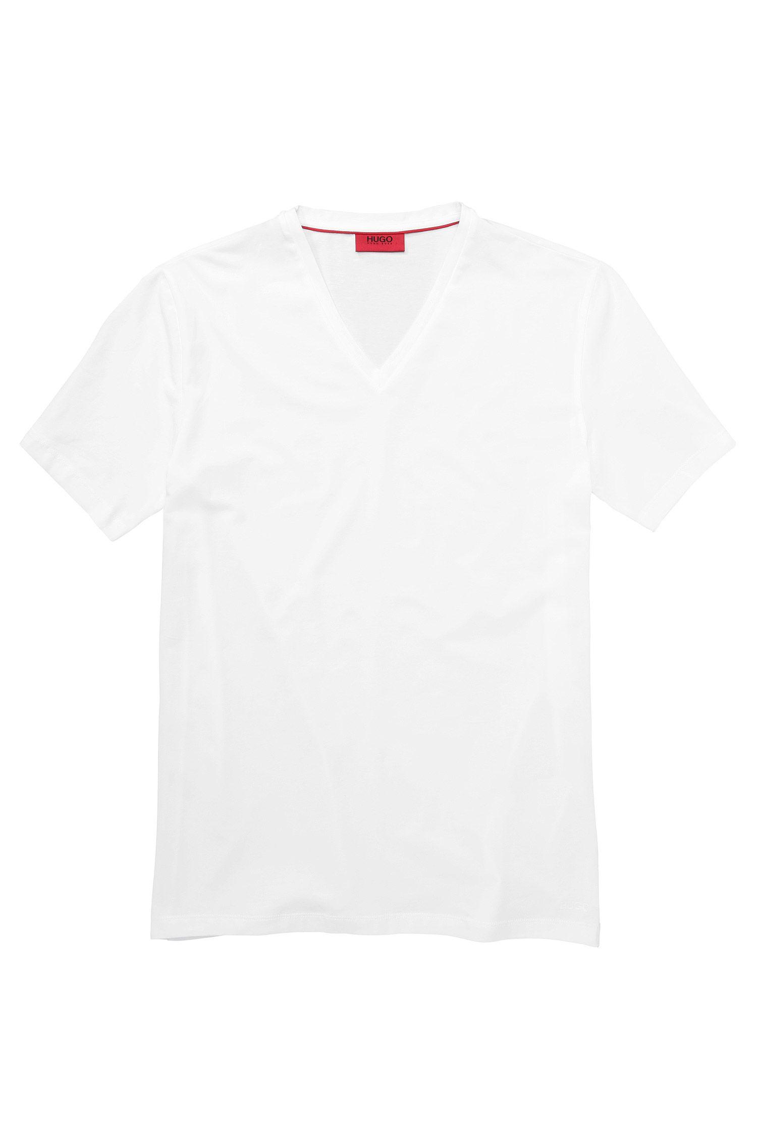 'Dredosos' | Stretch Cotton V-Neck T-Shirt