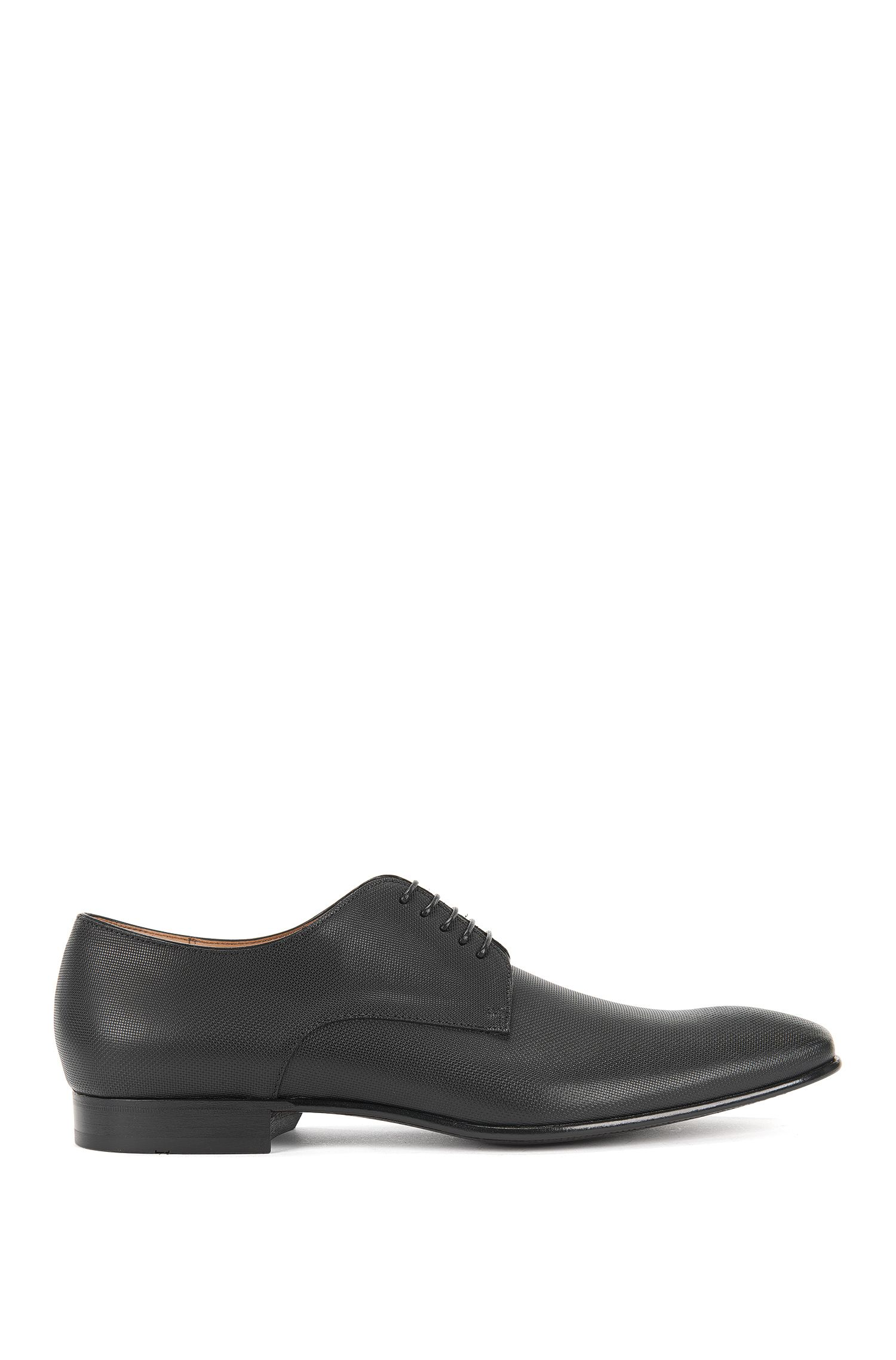 BOSS Hugo Boss Italian Leather Derby Dress Shoe Prindo 11.5 Black