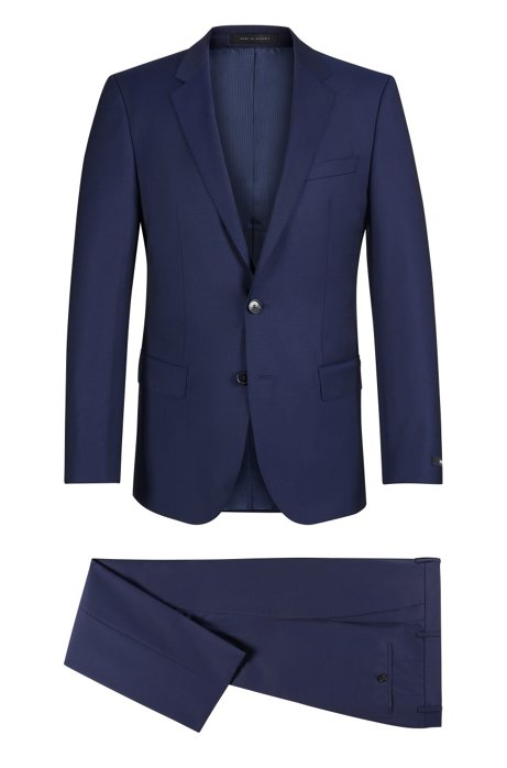 Italian Virgin Wool Suit, Slim Fit | Huge/Genius, Dark Blue