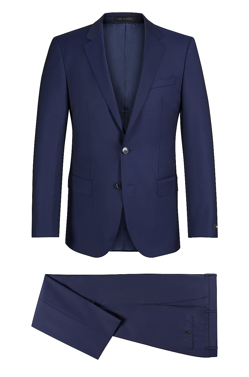 69ce42a5 BOSS - Italian Virgin Wool Suit, Slim Fit | Huge/Genius
