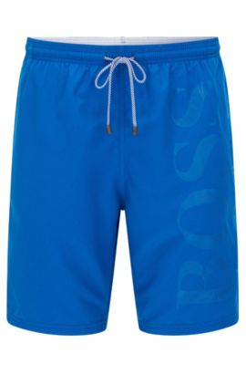 'Orca' | BOSS Logo Swim Trunks, Blue