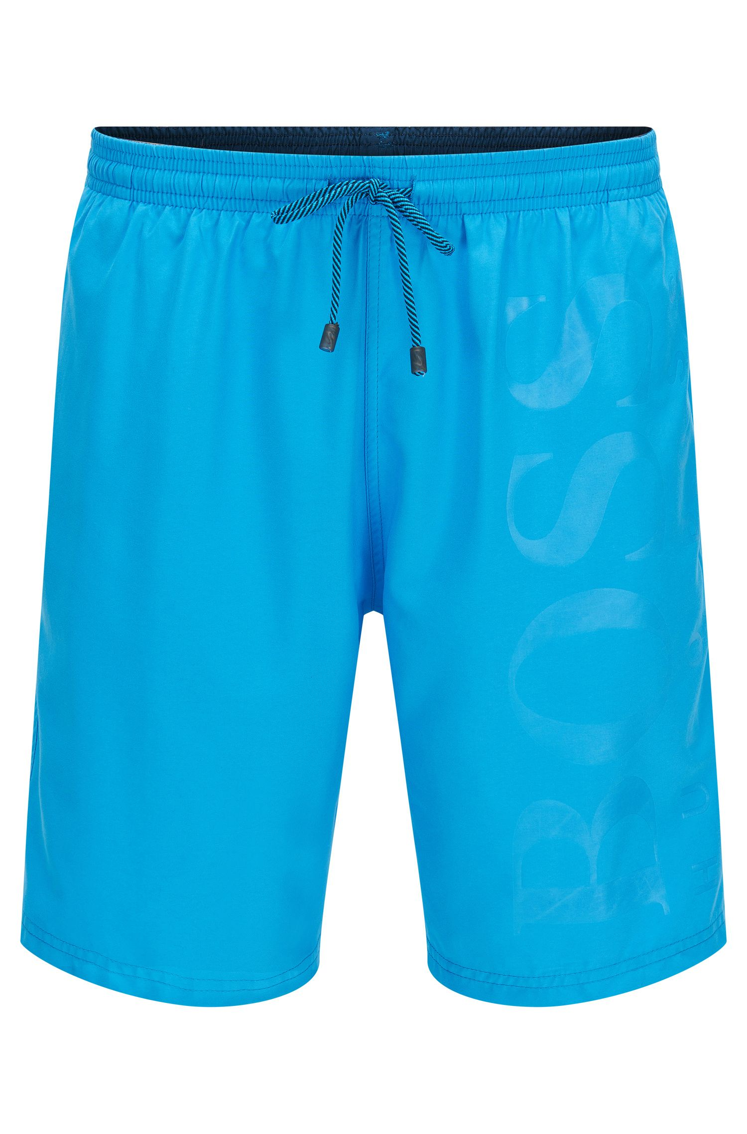 Swim shorts in brushed technical fabric