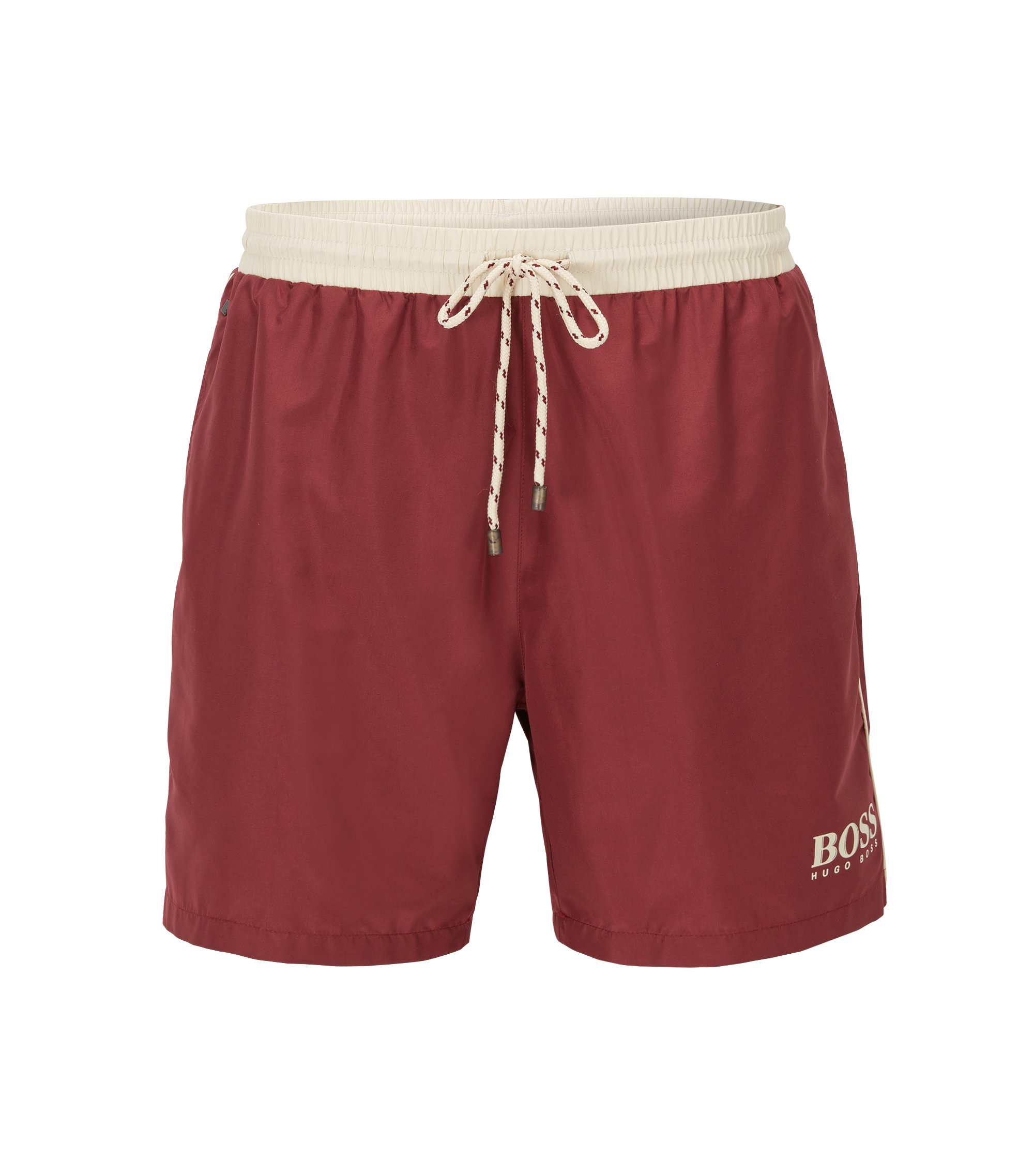 Quick Dry Swim Trunk | Starfish, Dark Red