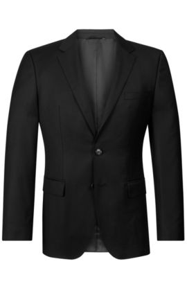 'The James' | Regular Fit, Virgin Wool Sport Coat, Black