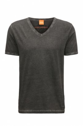 'Toulouse' | Cotton V-Neck T-Shirt, Black