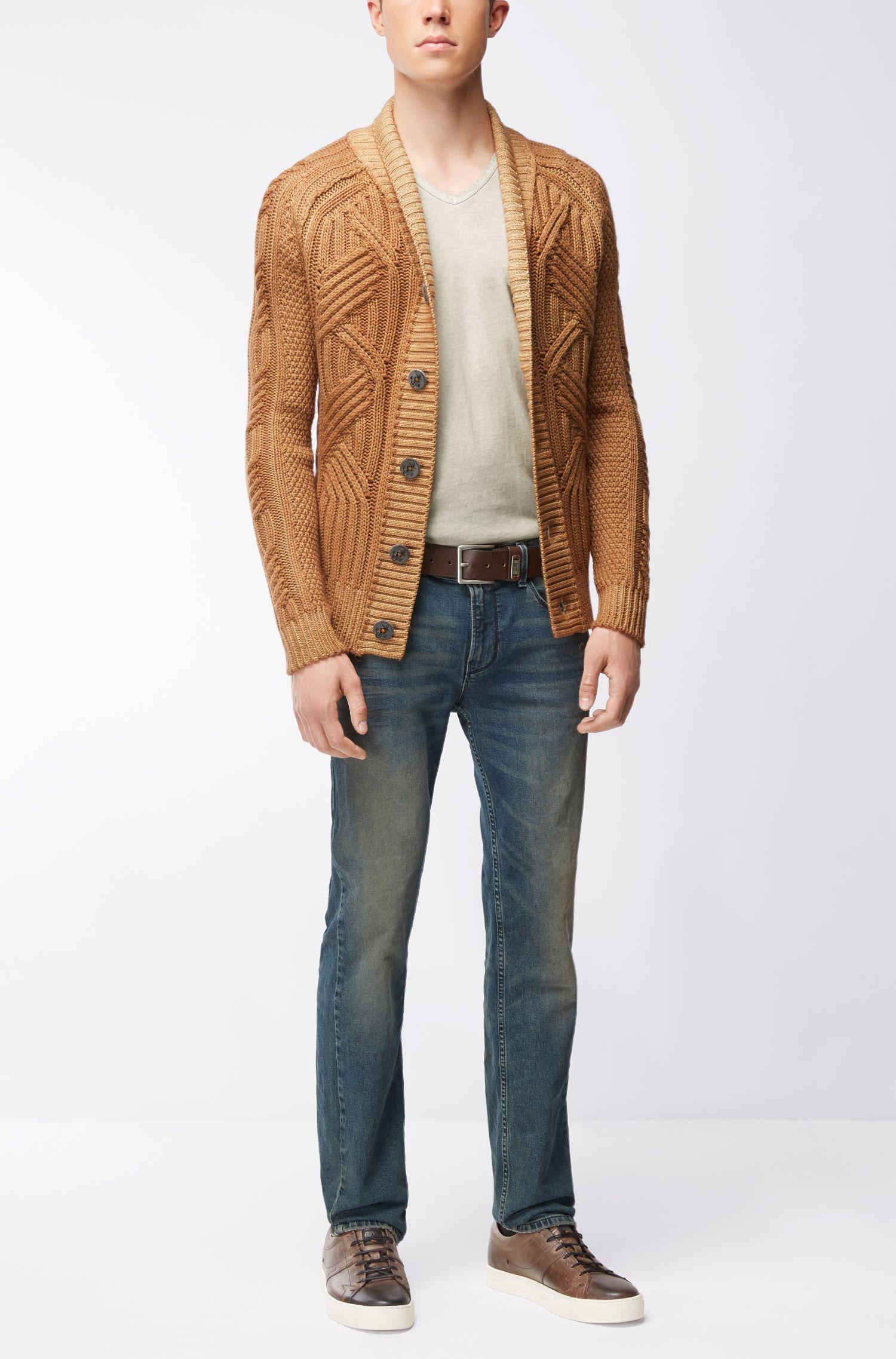 Cotton V-Neck T-Shirt | Toulouse, Open Grey