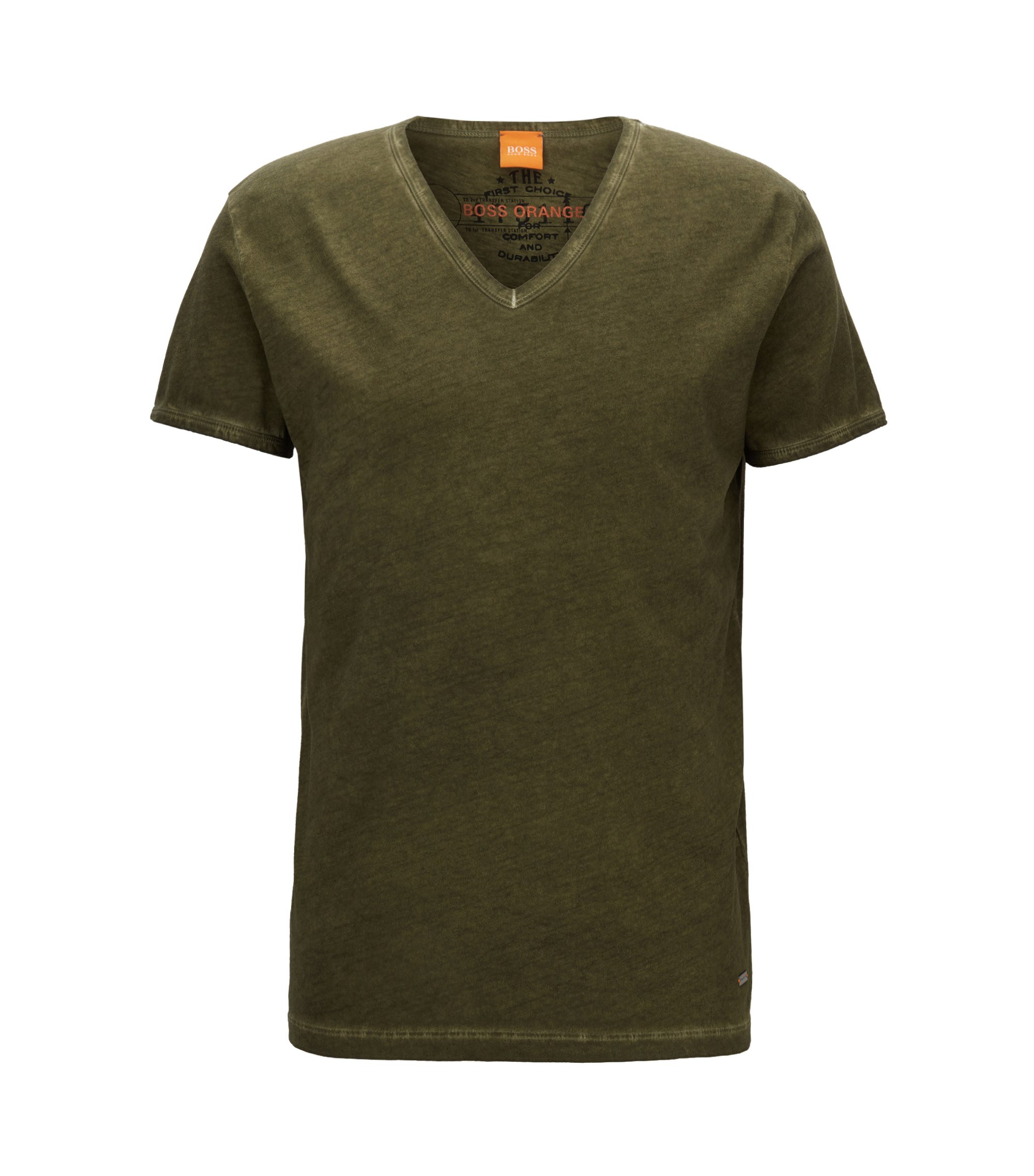 Cotton V-Neck T-Shirt | Toulouse, Dark Green