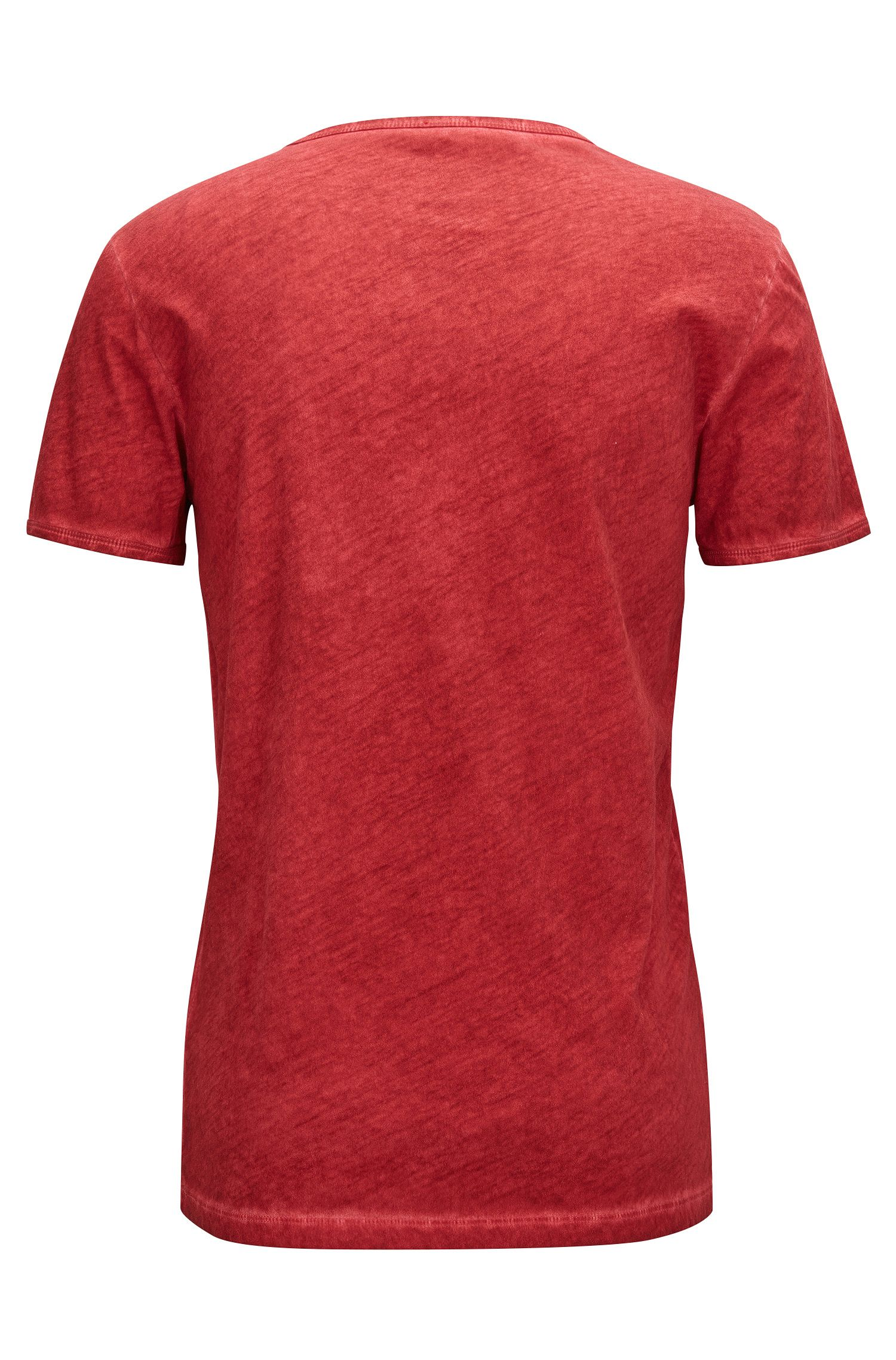 Cotton V-Neck T-Shirt | Toulouse, Red