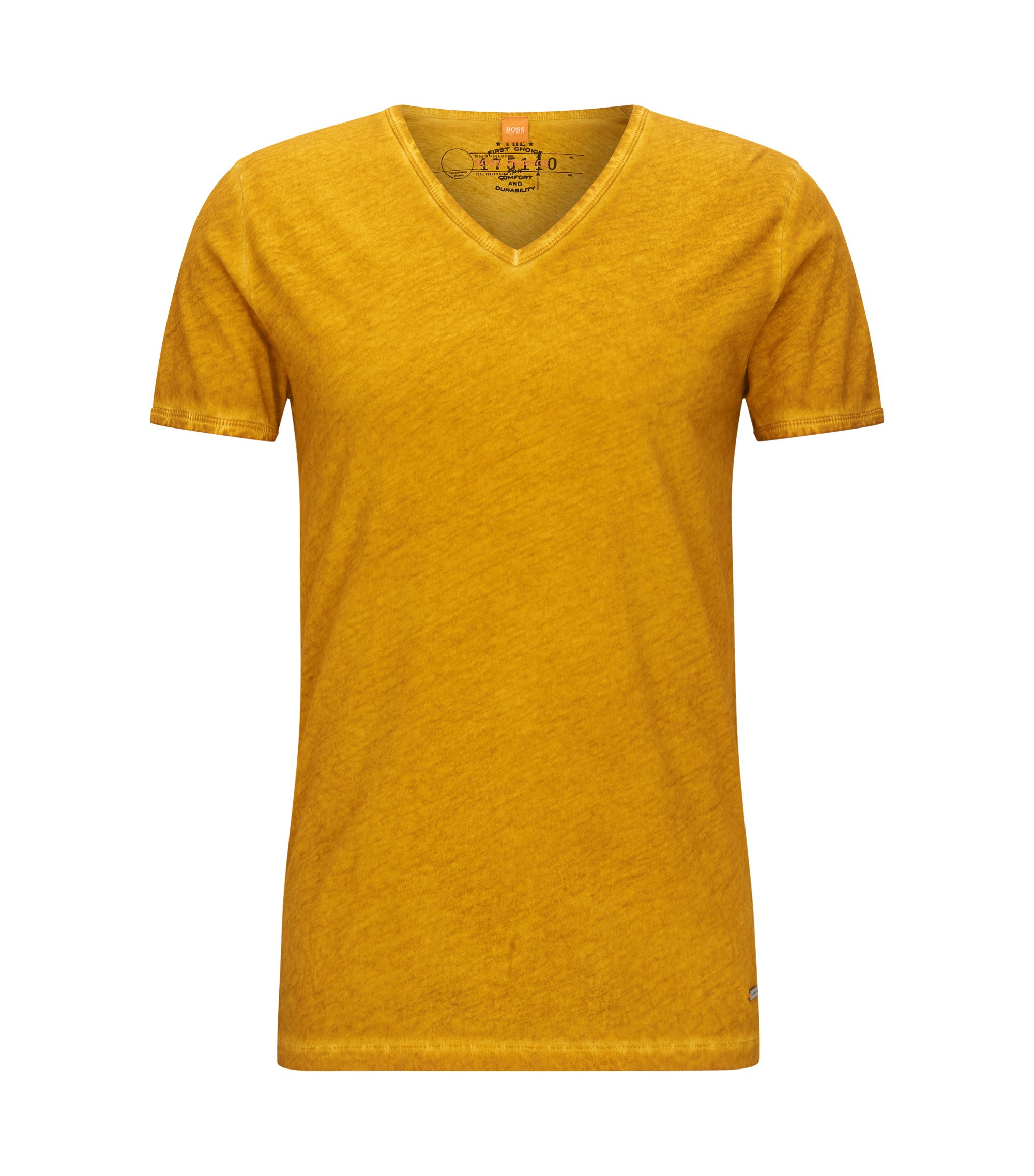 Cotton V-Neck T-Shirt | Toulouse, Yellow