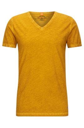 Cotton V-Neck T-Shirt | Toulouse, Yellow