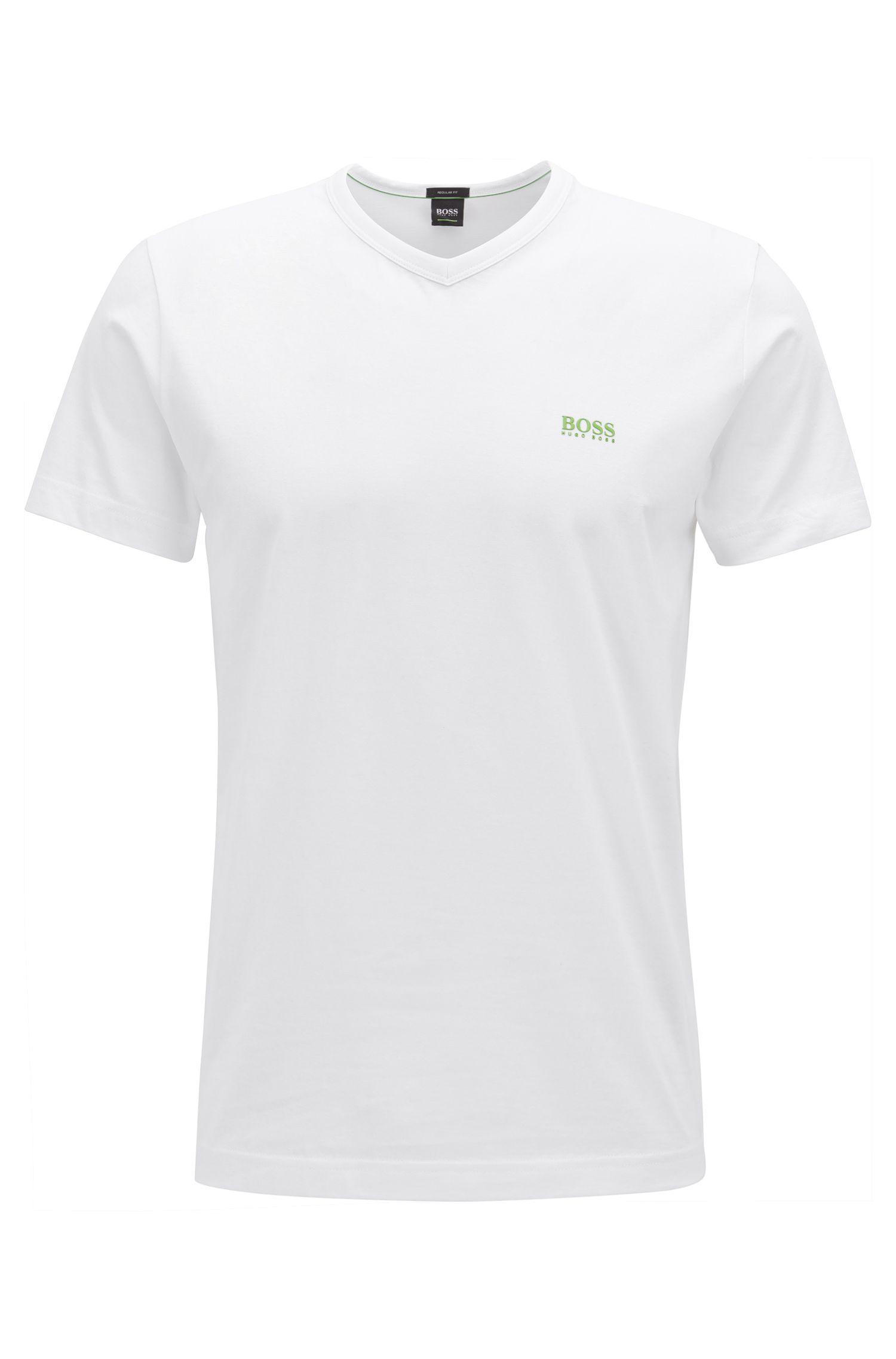 Cotton V-Neck T-Shirt | Teevn