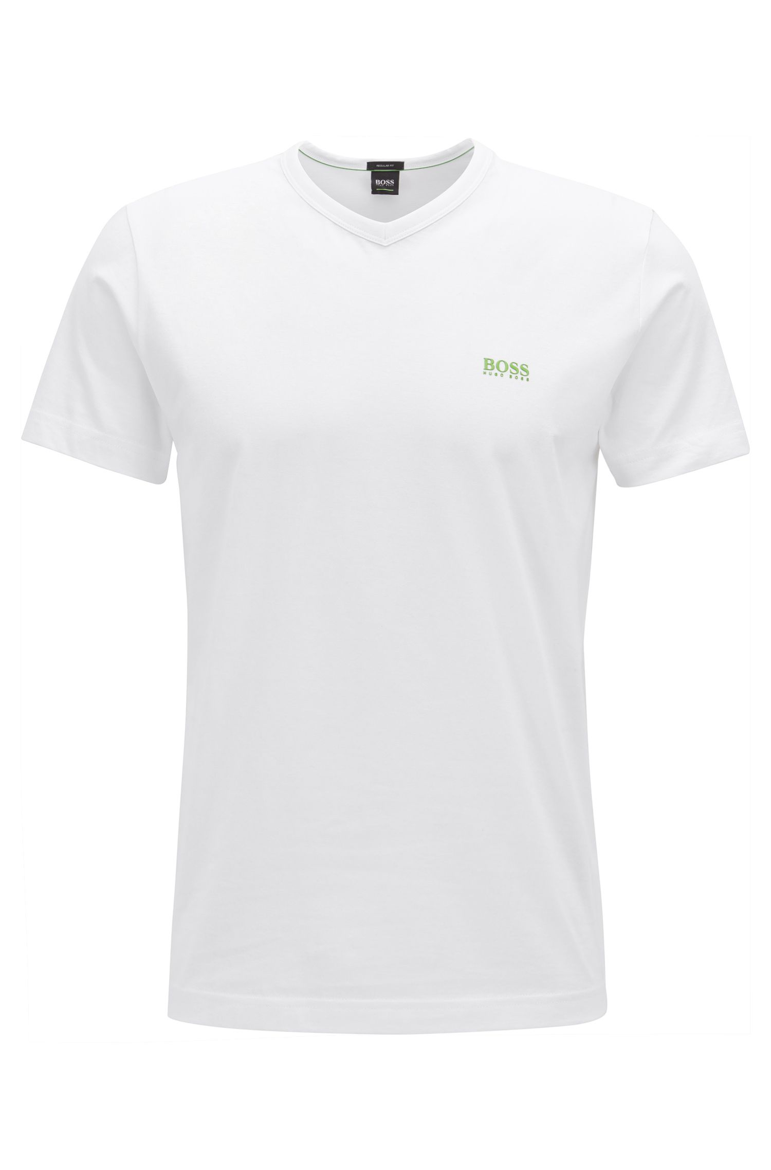 Cotton V-Neck T-Shirt | Teevn