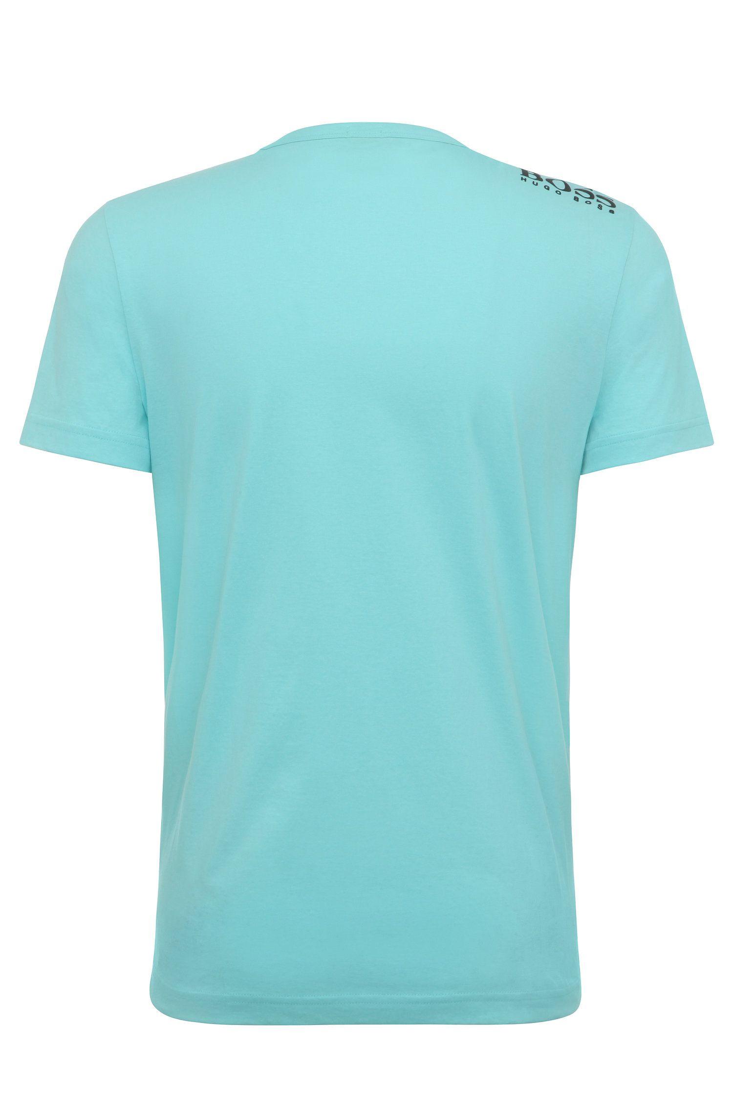 Regular-fit V-neck T-shirt in soft cotton