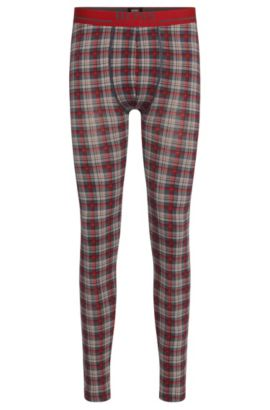 Stretch Cotton Long Johns | Long John Print, Open Red