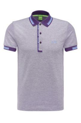 'Paule'   Slim Fit, Cotton Polo Shirt, Dark Purple