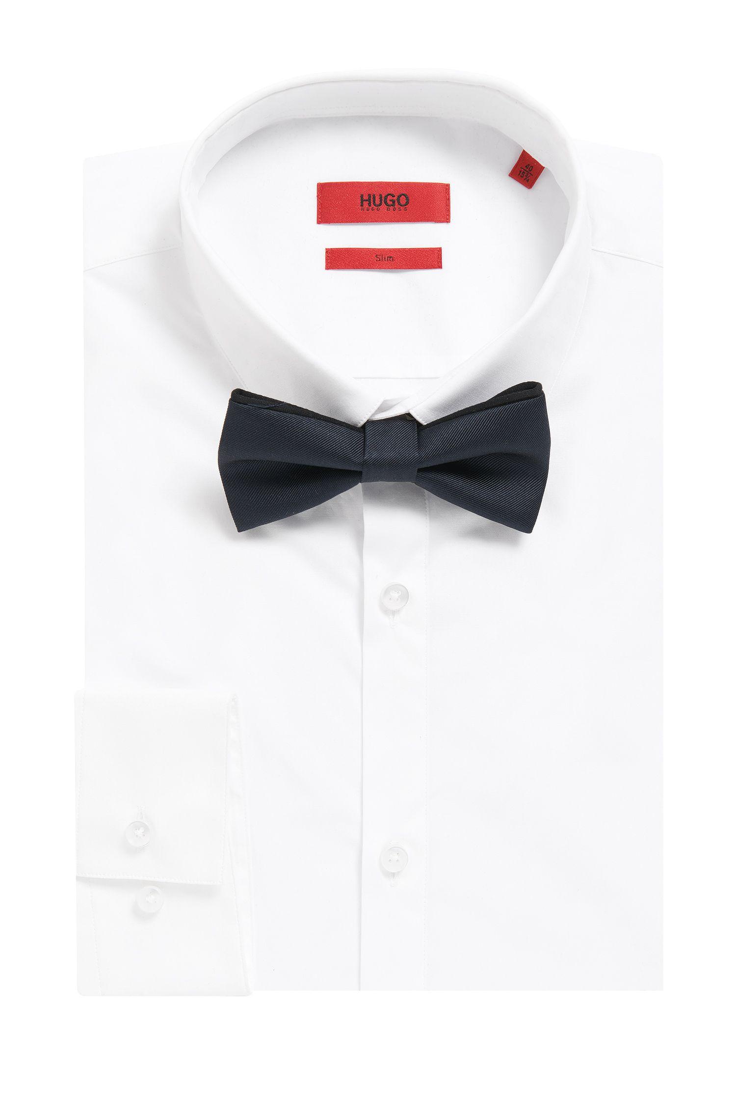 Piped Italian Silk Bow Tie