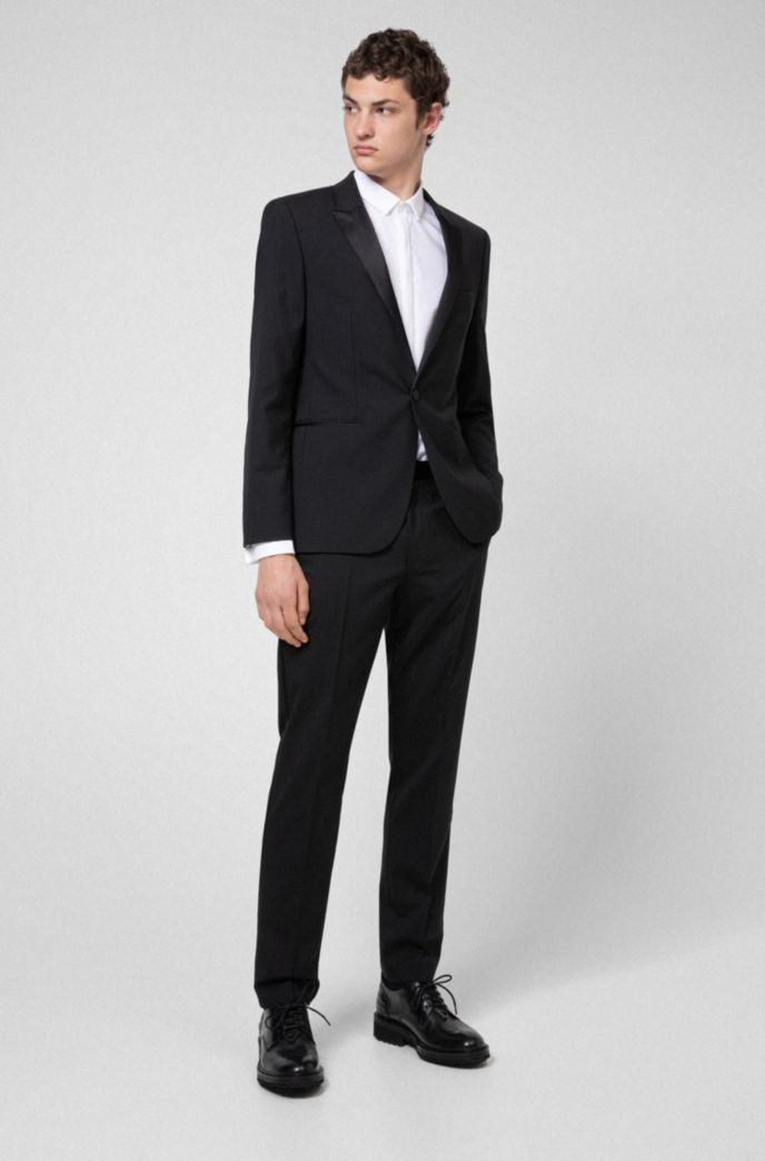 Extra-slim-fit evening suit in stretch virgin wool
