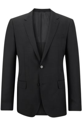 'Hutch' | Slim Fit, Virgin Wool Sport Coat, Black