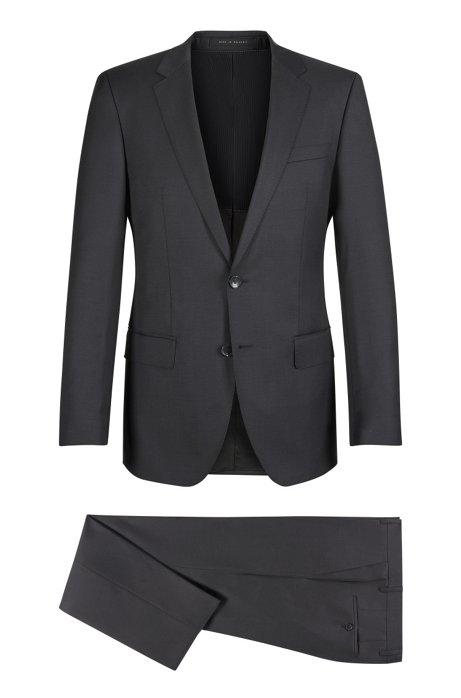 7153a838 BOSS - Virgin Wool Suit, Slim Fit | Huge/Genius