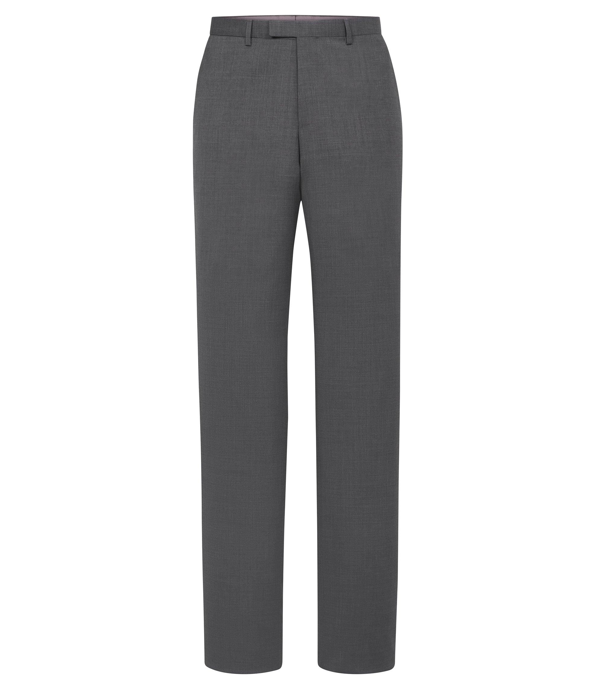 Virgin Wool Dress Pant, Regular Fit | Sharp, Open Grey