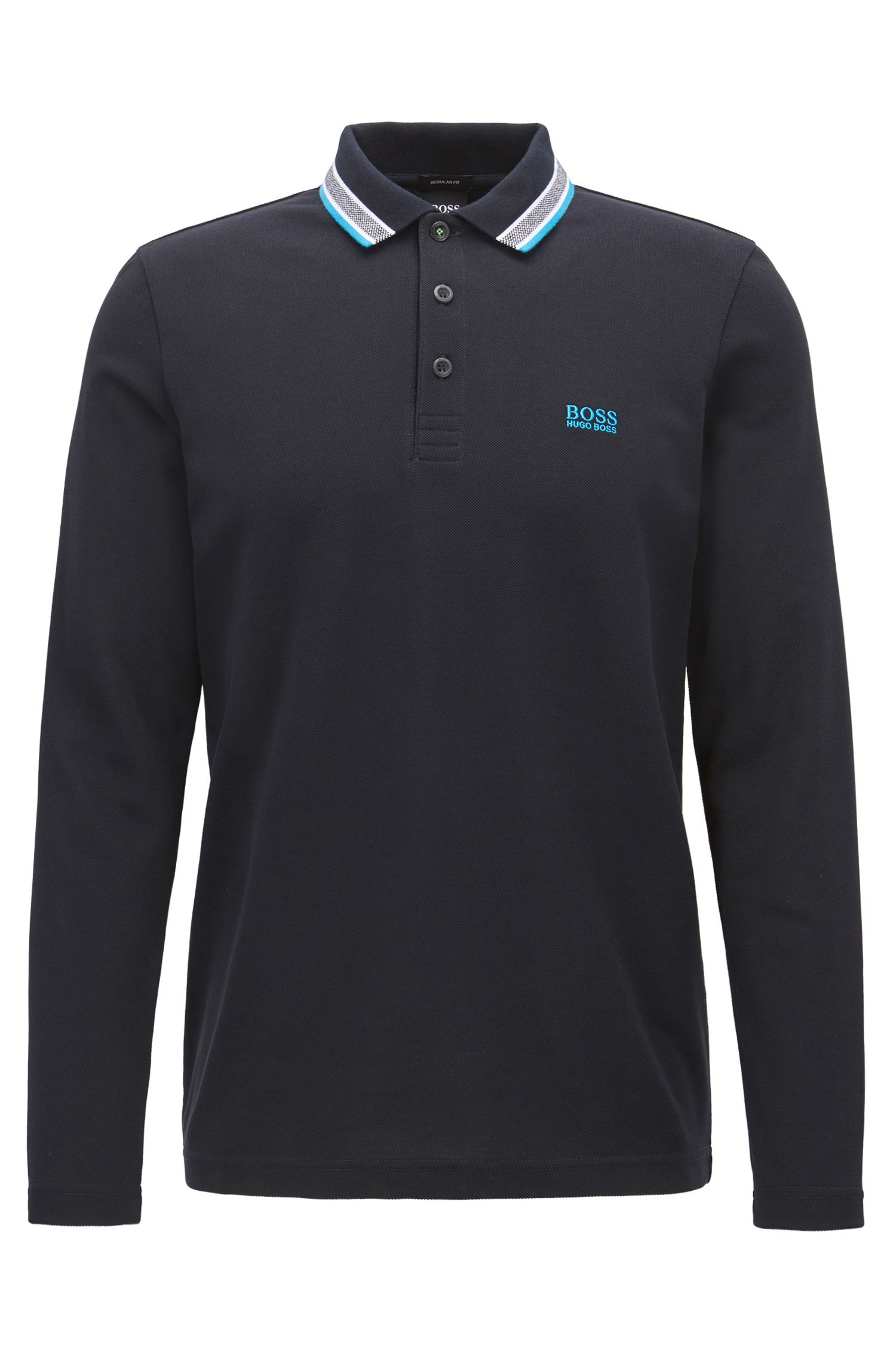 Cotton Pique Polo Shirt | Pilsy, Black