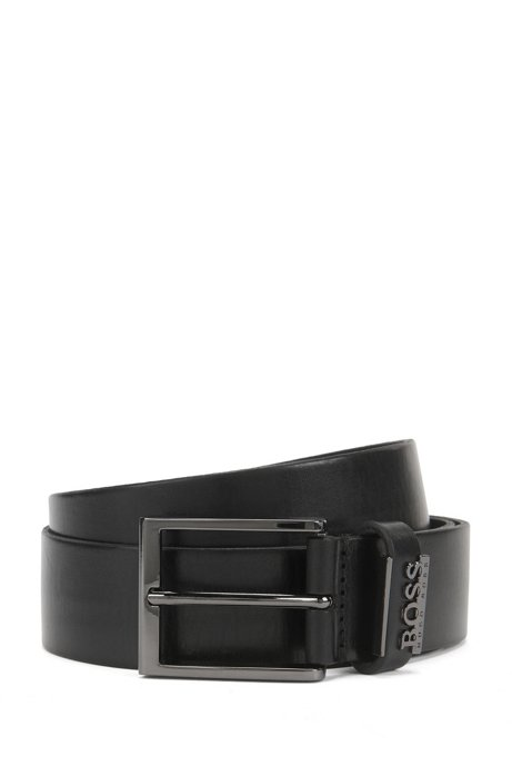 BOSS - Leather Belt with Metal Logo  0172ddd18e1