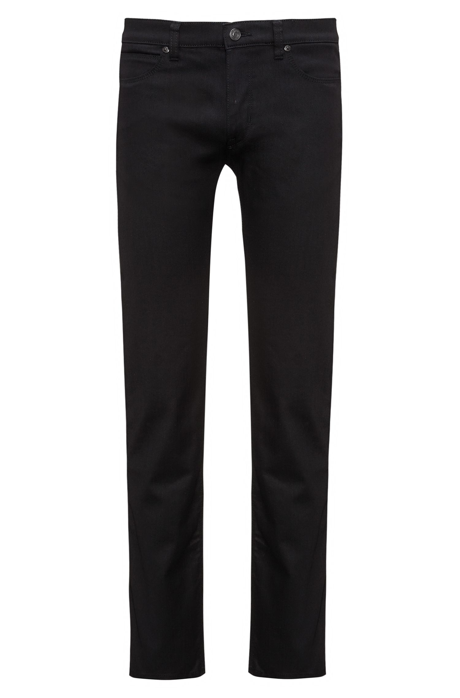 Slim-fit jeans in stay-black denim, Black