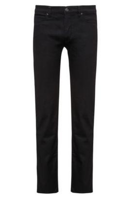 Stretch Cotton Jeans, Slim Fit | HUGO 708, Black