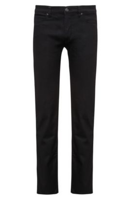 'HUGO 708' | Slim Fit, Stretch Cotton Jeans, Black