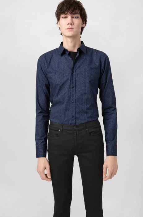 Slim-fit jeans in stay-black denim, Black