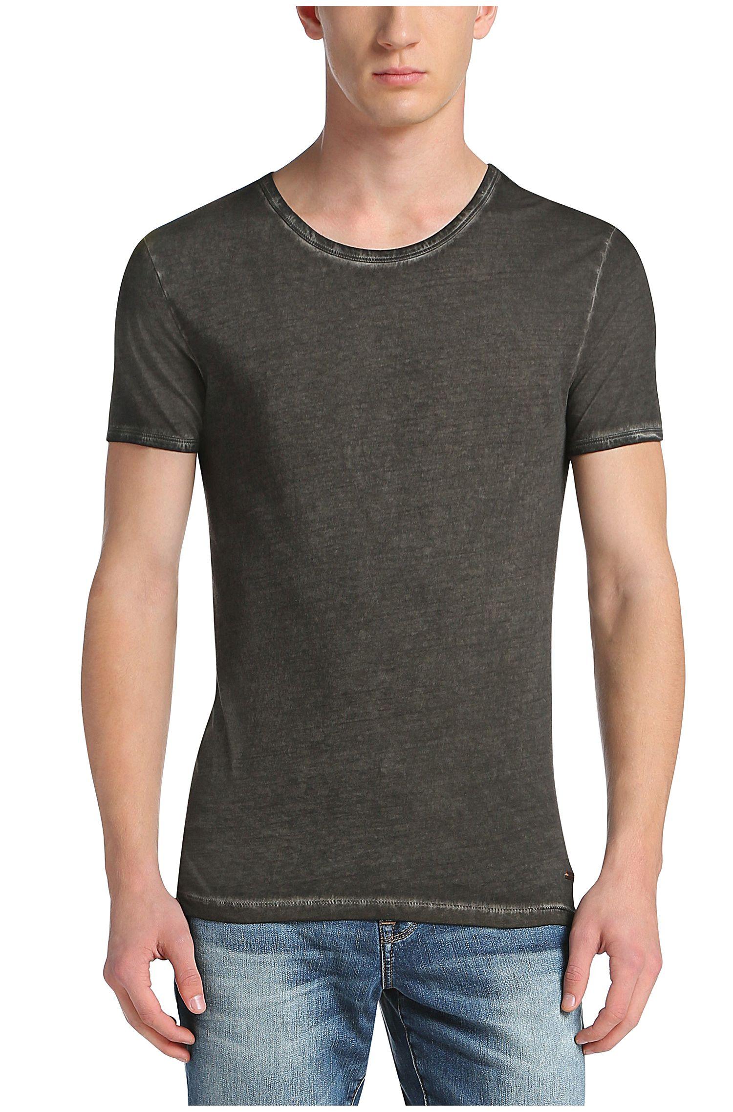 Cotton Garment Washed T-Shirt | Tour, Black