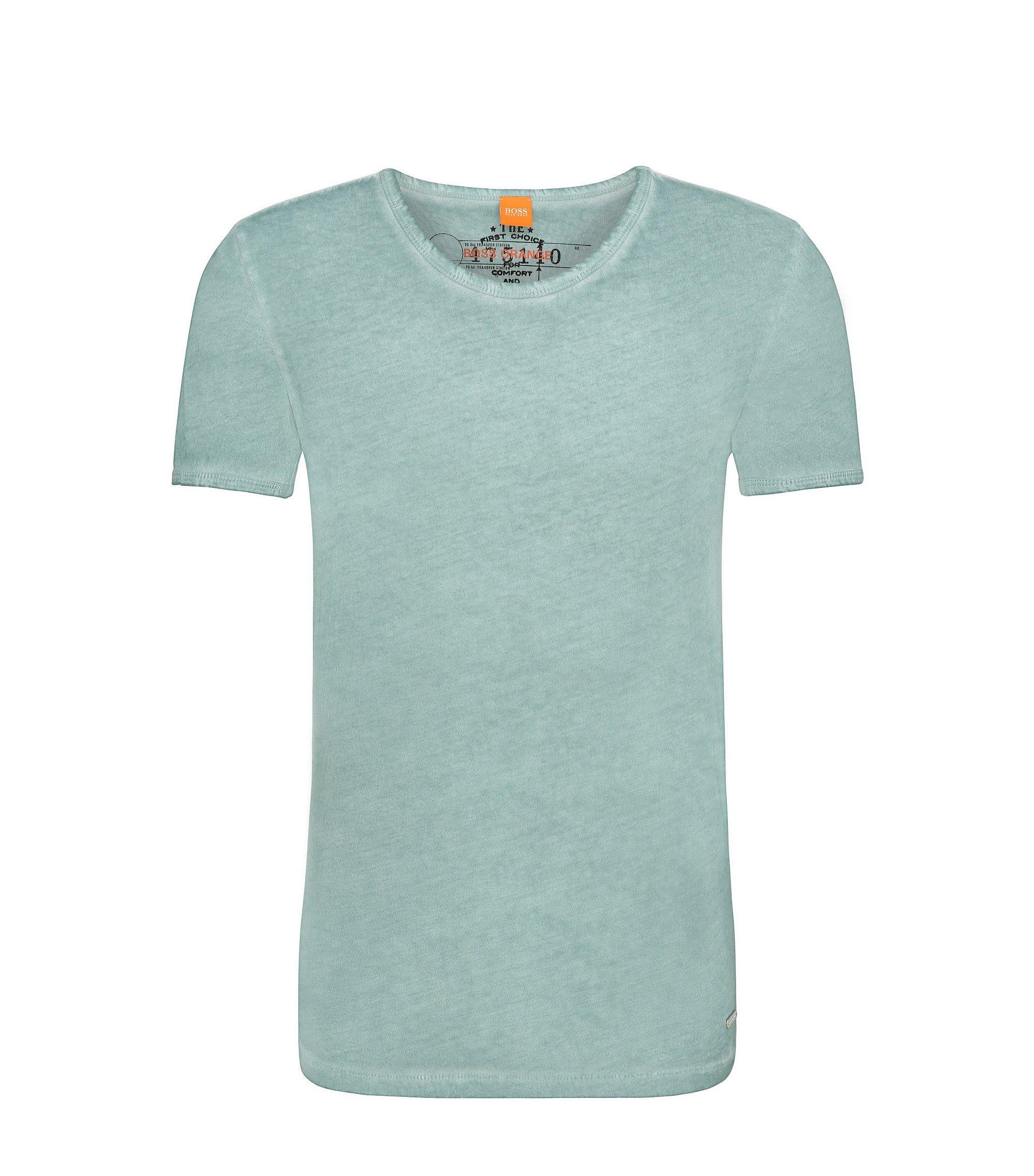 Cotton Garment Washed T-Shirt | Tour, Turquoise