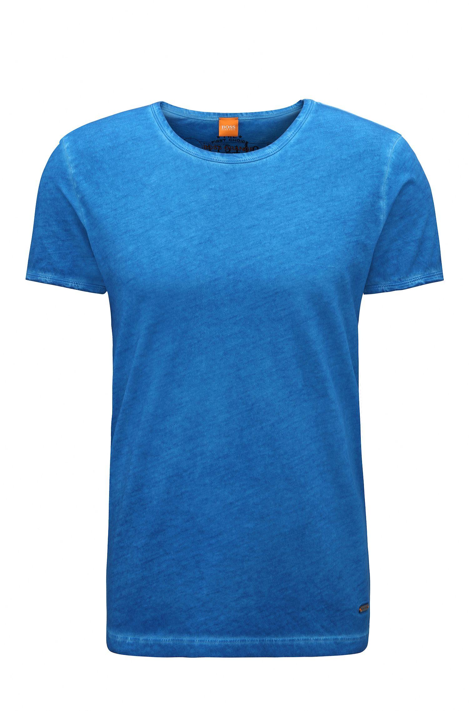 Cotton Garment Washed T-Shirt | Tour, Open Blue
