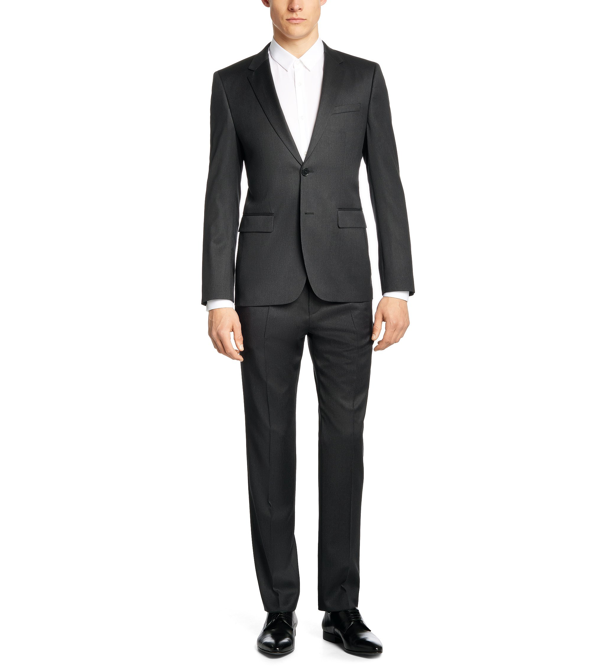 'Aeron/Hamen' | Slim Fit, Virgin Wool Suit , Charcoal