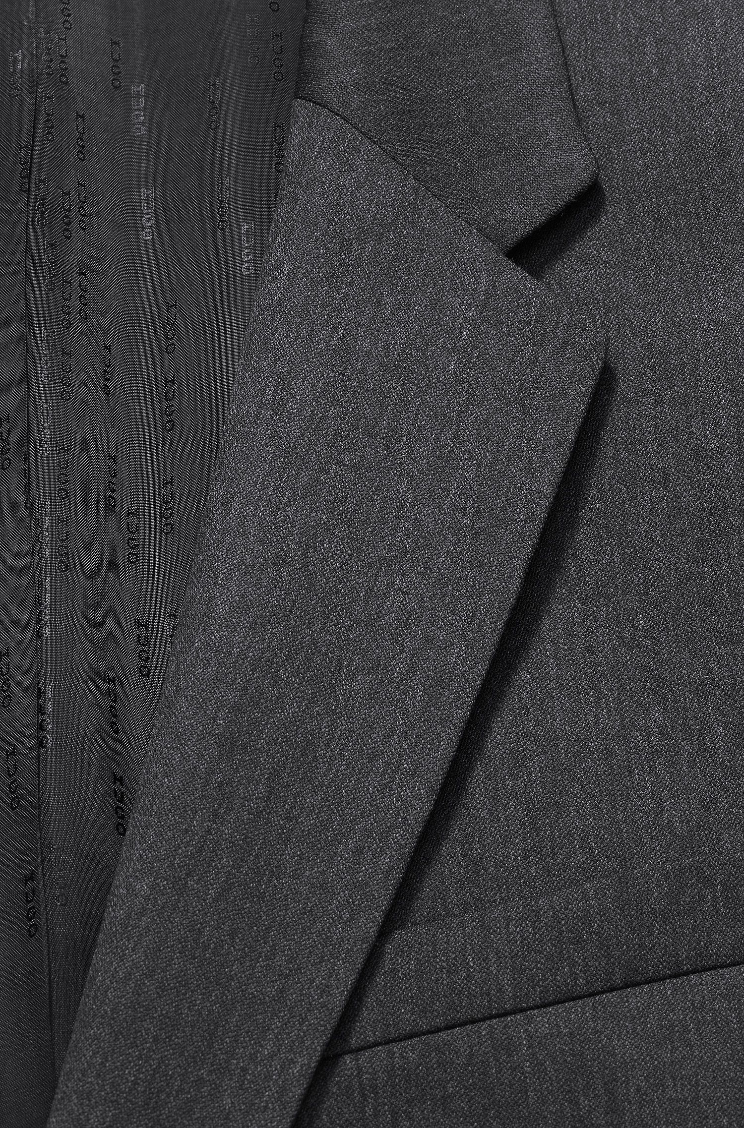 Virgin Wool Suit, Slim Fit |  Aeron/Hamen, Charcoal