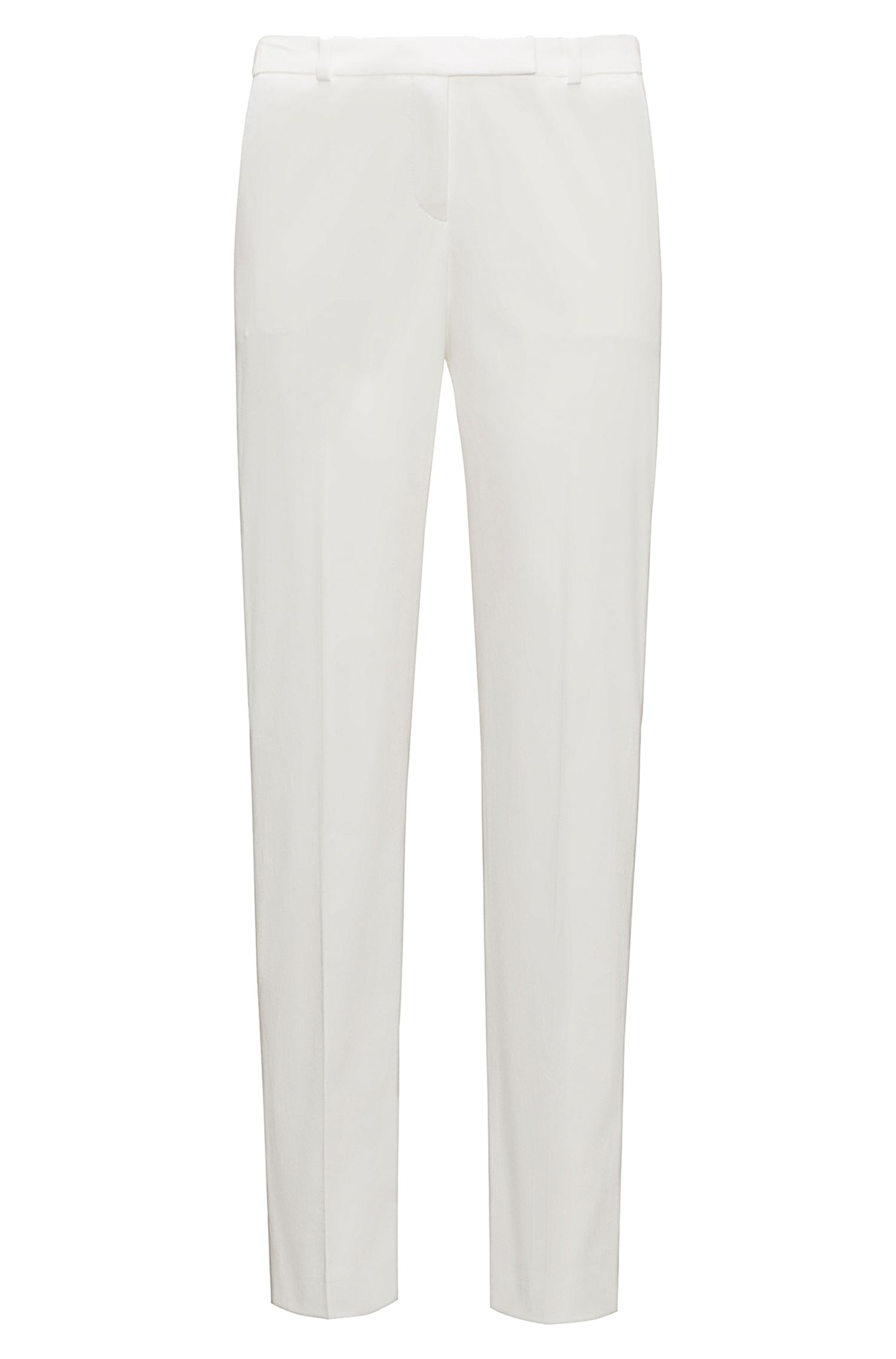 'Harile' | Stretch Cotton Low Waist Trousers