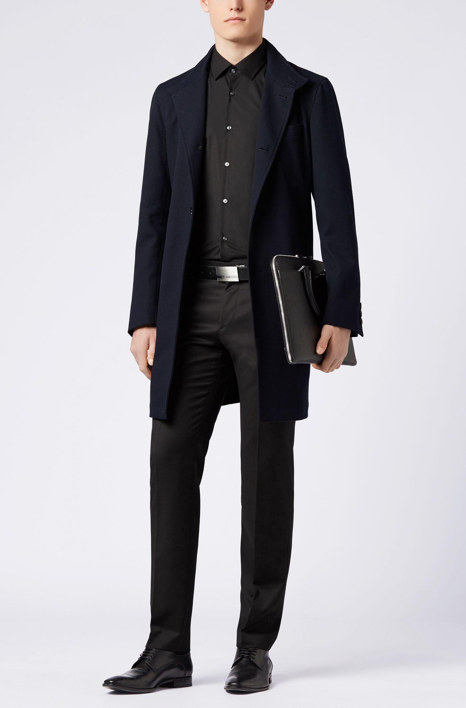 Reversible Leather Belt | Olintos CN, Black
