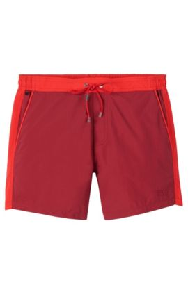'Snapper' | Quick Dry Swim Trunks , Open Red