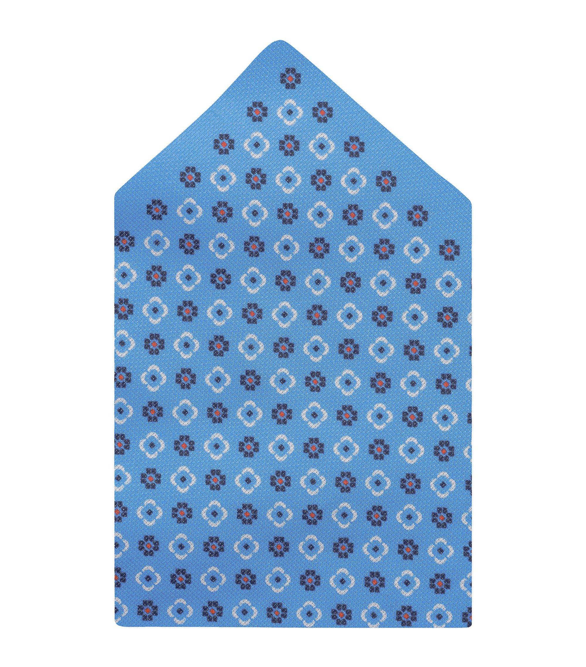 'Pocket Square 33 x 33' | Cotton Printed Pocket Square, Blue