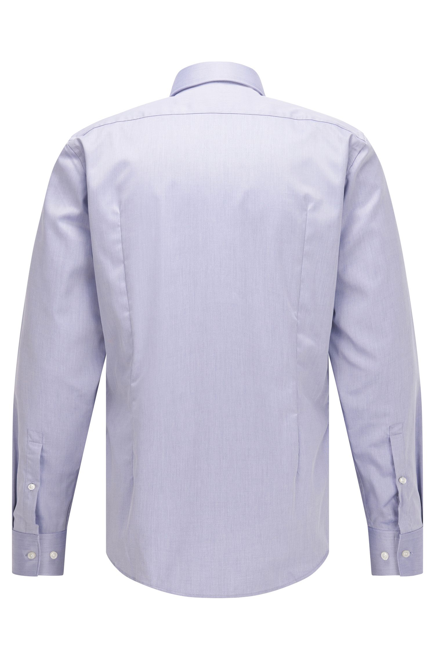 Easy Iron Cotton Poplin Shirt, Slim Fit | C-Jason, Purple