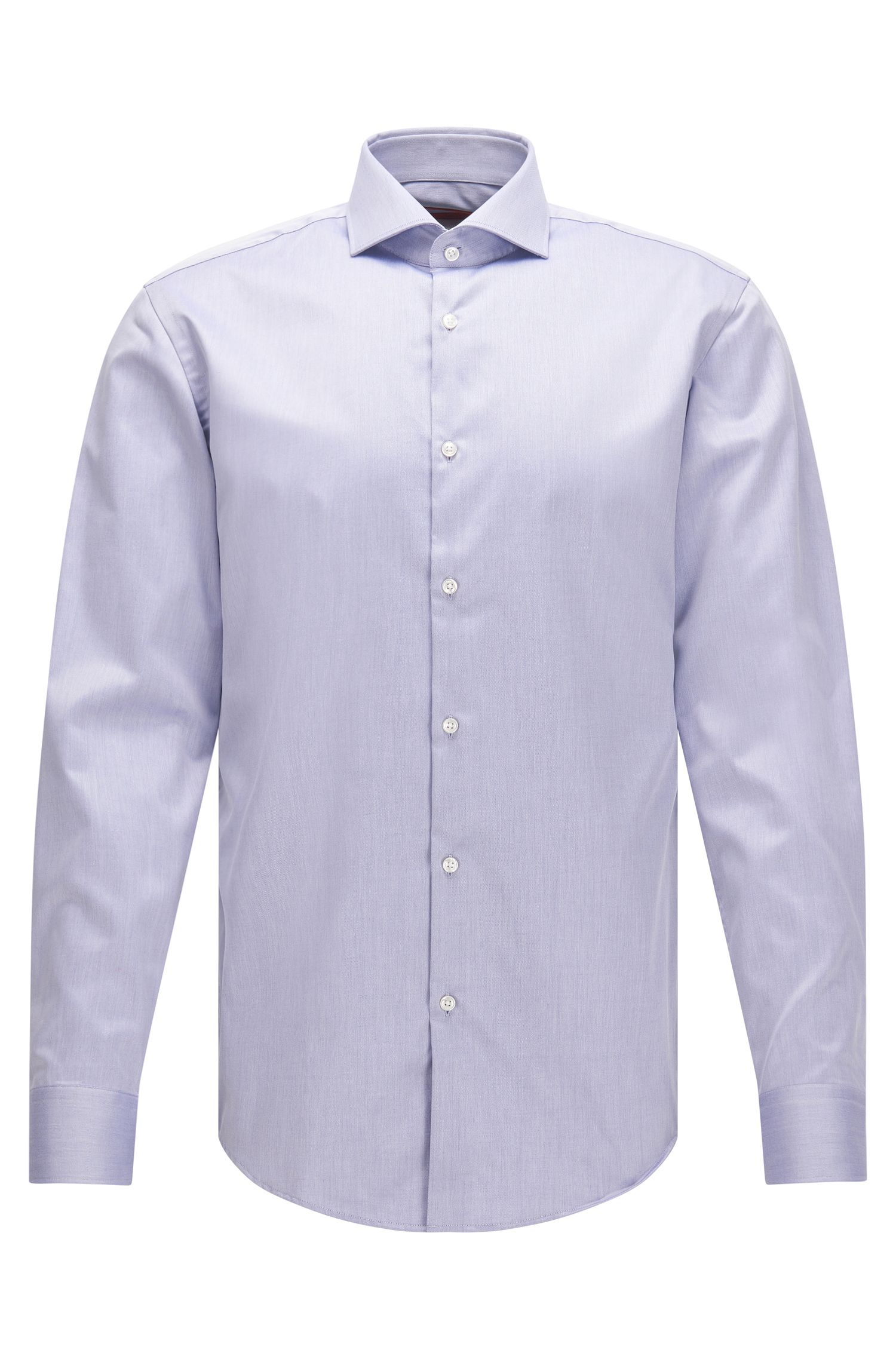Easy Iron Cotton Poplin Shirt, Slim Fit   C-Jason